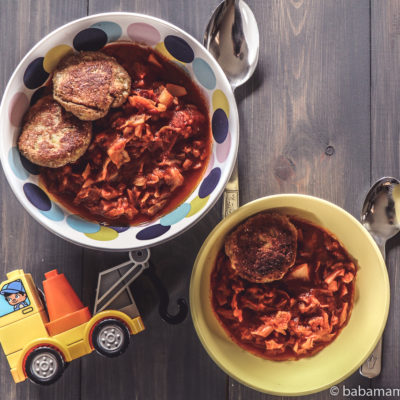 Paradicsomos kelkáposzta főzelék