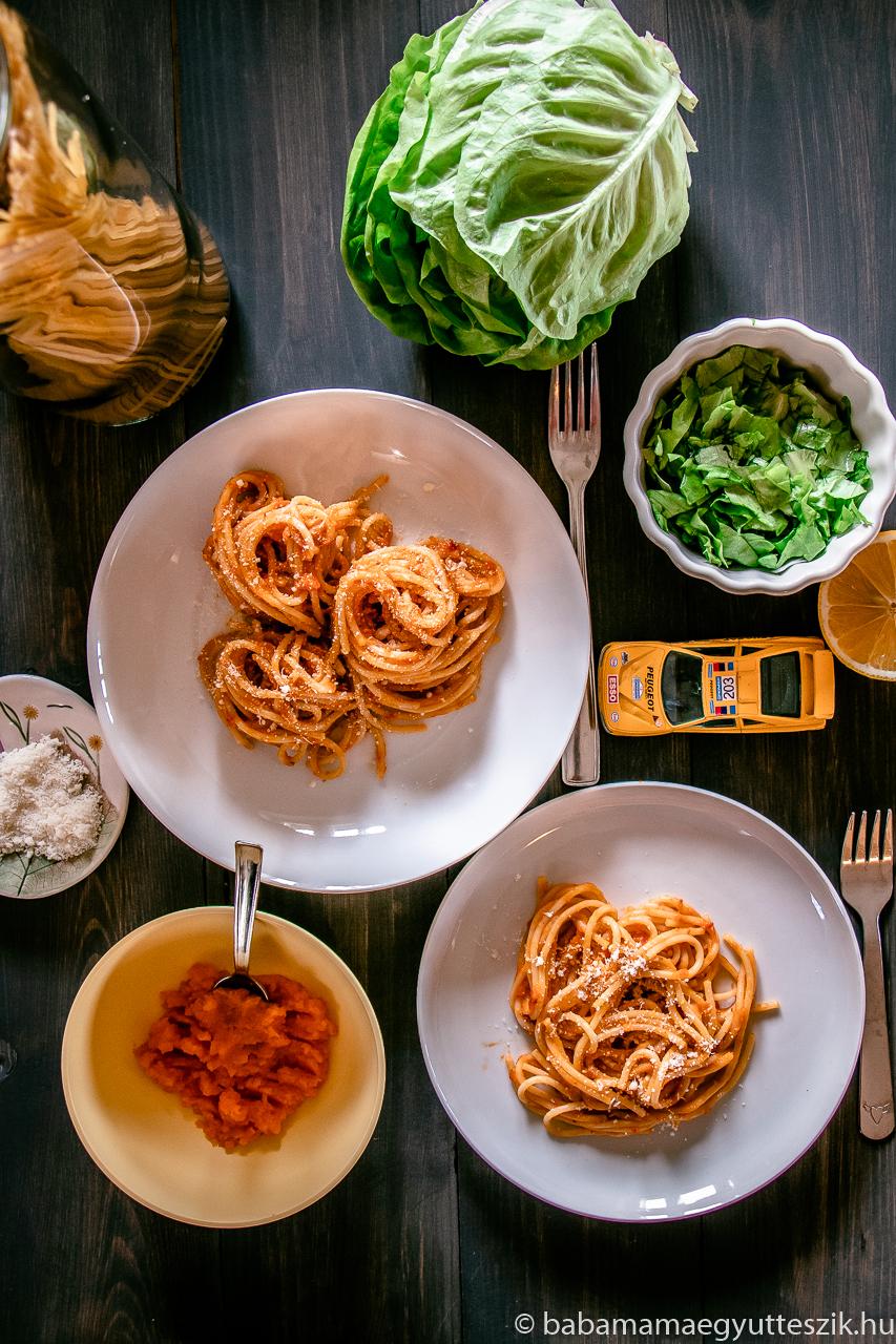 Sárgarépás spagetti