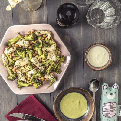 csicseriborsós brokkolisaláta csirkemell csíkokkal
